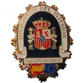 PLACA METALICA MINISTERIO DEL INTERIOR VIGILANTE EXPLOSIVOS