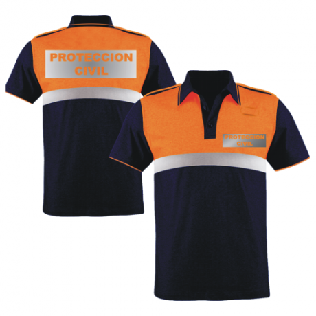 POLO BICOLOR M/C PROTECCION CIVIL
