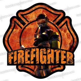 PEGATINA VINILO FIRE FIGHTER