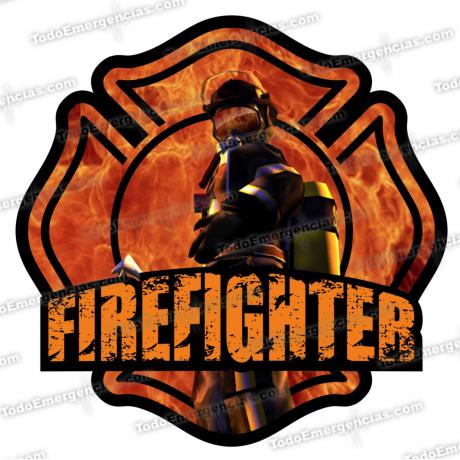 PEGATINA VINILO FIREFIGHTER