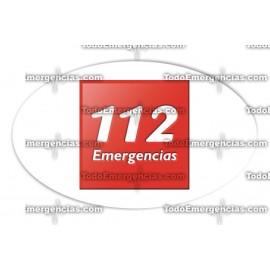 112 PEGATINAS RESINA EMERGENCIAS OVALADA
