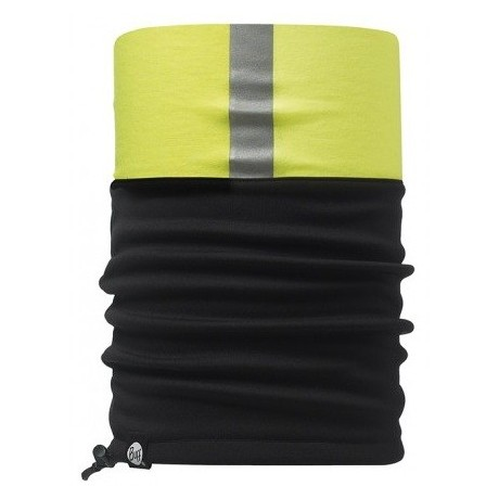 BRAGA POLAR BUFF® WINDSTOPPER NEGRA / AMARILLA CON REFLECTANTE