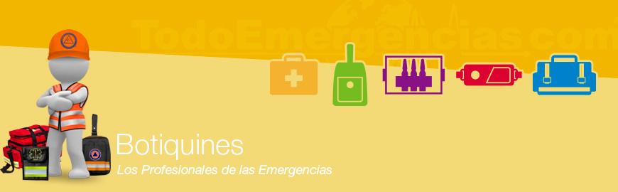 Botiquines emergencias: mochilas, perneras, riñoneras, porta instrumental, porta ampollas, especialidades, etc