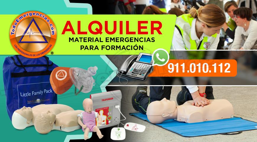 ALQUILER MATERIAL FORMACIÓN Y EMERGENCIAS